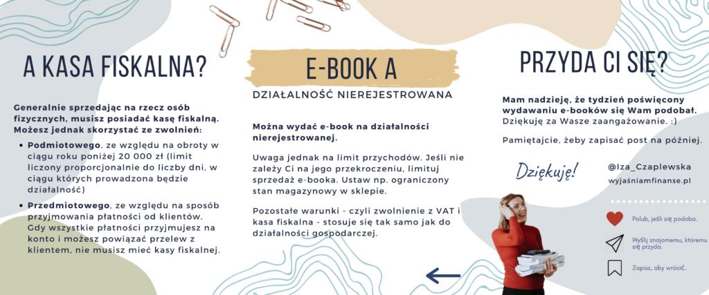 jak wydać e-booka działalność nierejestrowana